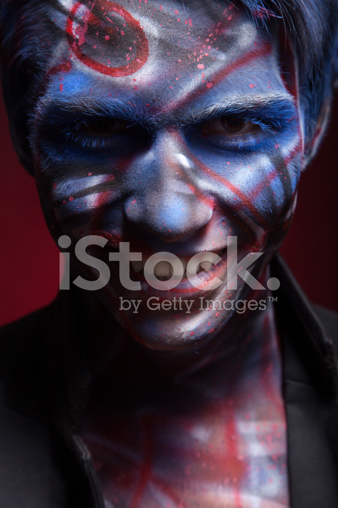 Halloween Maan.Creepy Portrait Of A Halloween Man Stock Photos Freeimages Com