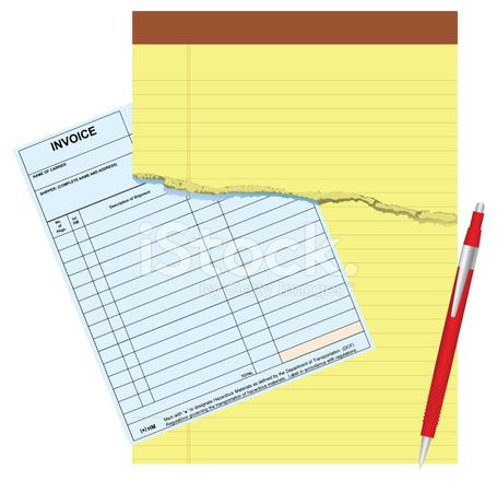 factura en blanco stock vector freeimages com