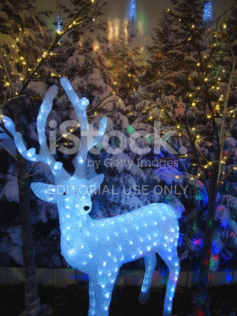 large light up christmas reindeer figure with led lights fairy