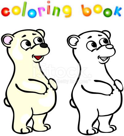 Komik Karikatür Kutup Ayısı Boyama Kitabı Stock Vector Freeimagescom