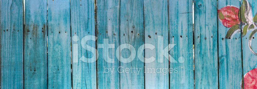 Gemalten Blauen Zaun Stockfotos Freeimages Com