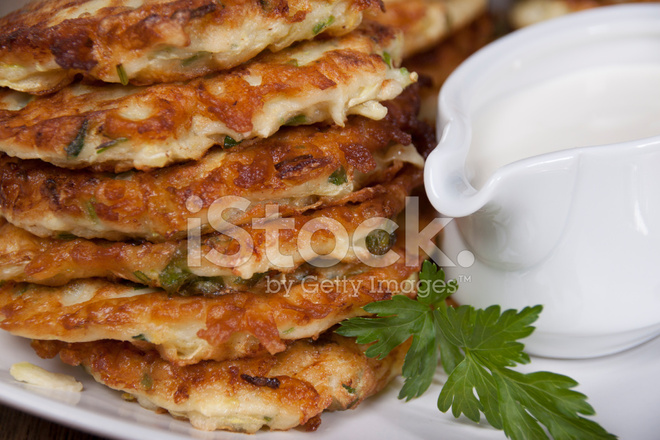 Vegetable Fritters Of Zucchini With Parsley And Dill