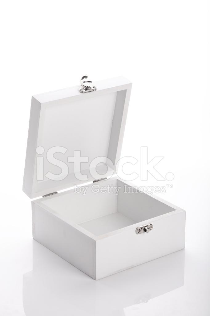 Witte Houten Box.Witte Houten Kist Gebruikt Productverpakking Stockfoto S