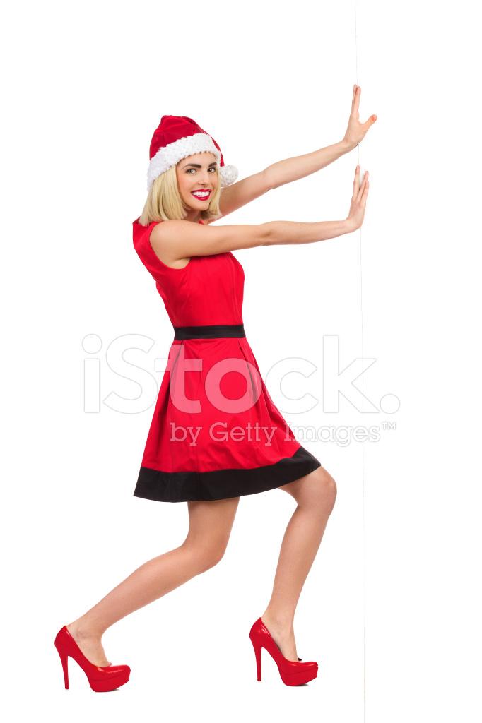 3f050e1a7f2a0f Sexy Santa Meisje Duwen DE Muur Stockfoto s - FreeImages.com