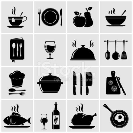 Kochen UND Küche Symbole Stock Vector - FreeImages.com