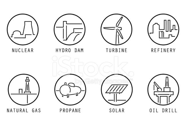 cartoon natural gas generation