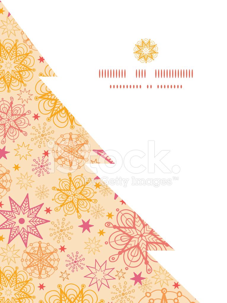 Vector Estrellas Calientes Árbol DE Navidad Silueta Patrón Marco ...
