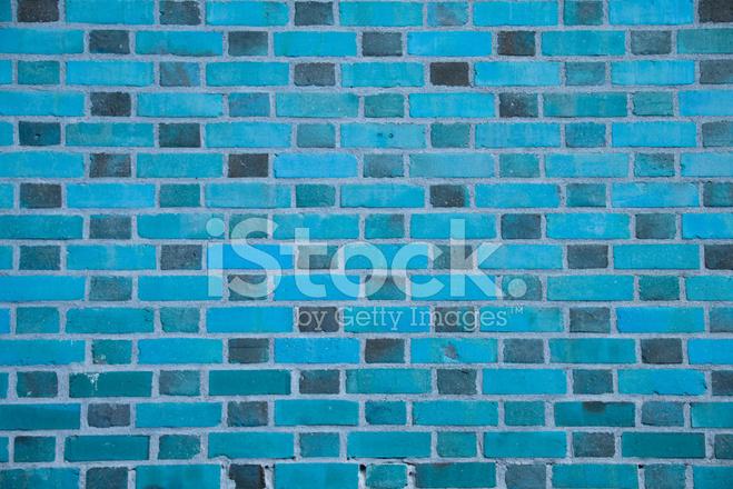 Pared DE Ladrillo Estándar Verde Azul (fondo, Papel Pintado ...