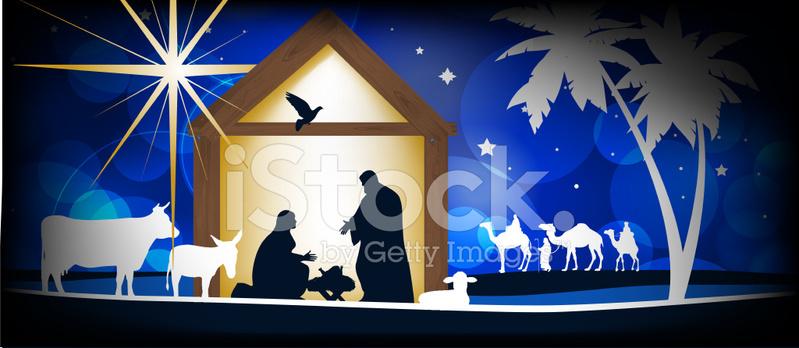 Christliche Bilder Weihnachten.Christliche Weihnachten Krippe Stock Vector Freeimages Com