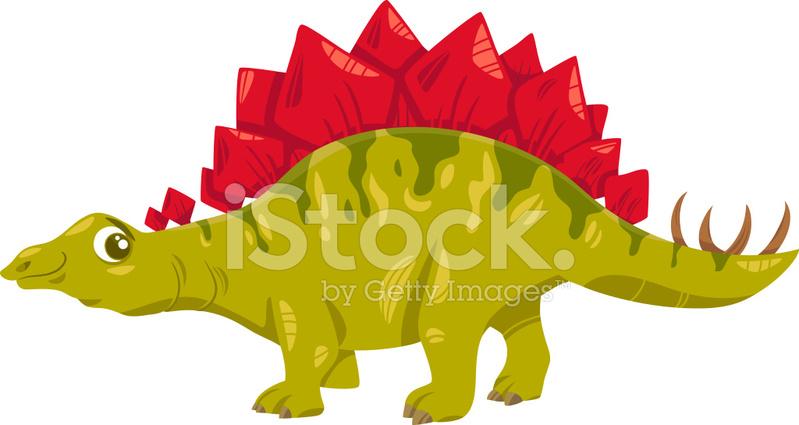 Stegosaurus Dinozor Karikatür çizimi Stock Vector Freeimagescom