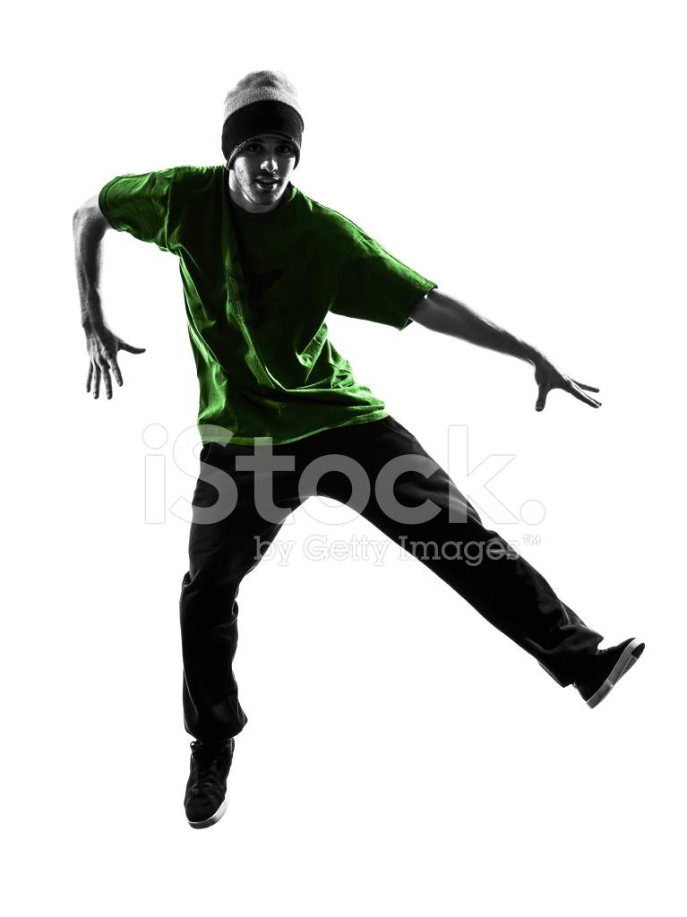 a33e06fdd Young Acrobatic Break Dancer Breakdancing Man Silhouette Stock ...