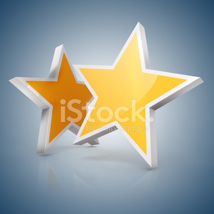 3d gold star on blue gradient background stock photos freeimages com