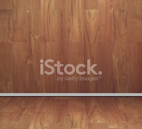 Leeren Raum Der Teak Holz Brett Textur Wand Und Stockfotos