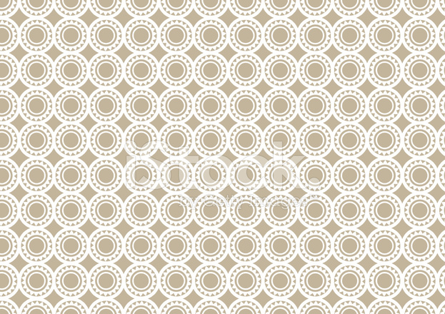 Abstract Brown Circle Pattern Retro Wallpaper