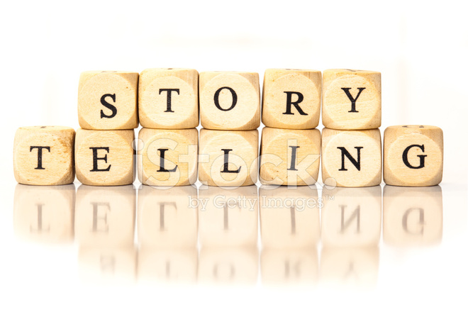 Story Telling Spelled Word Dice Letters With Reflection