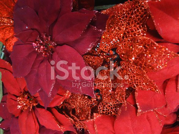 Immagini Stella Di Natale Glitter.Fiori Stella Di Natale Artificiale Con Glitter Plastica