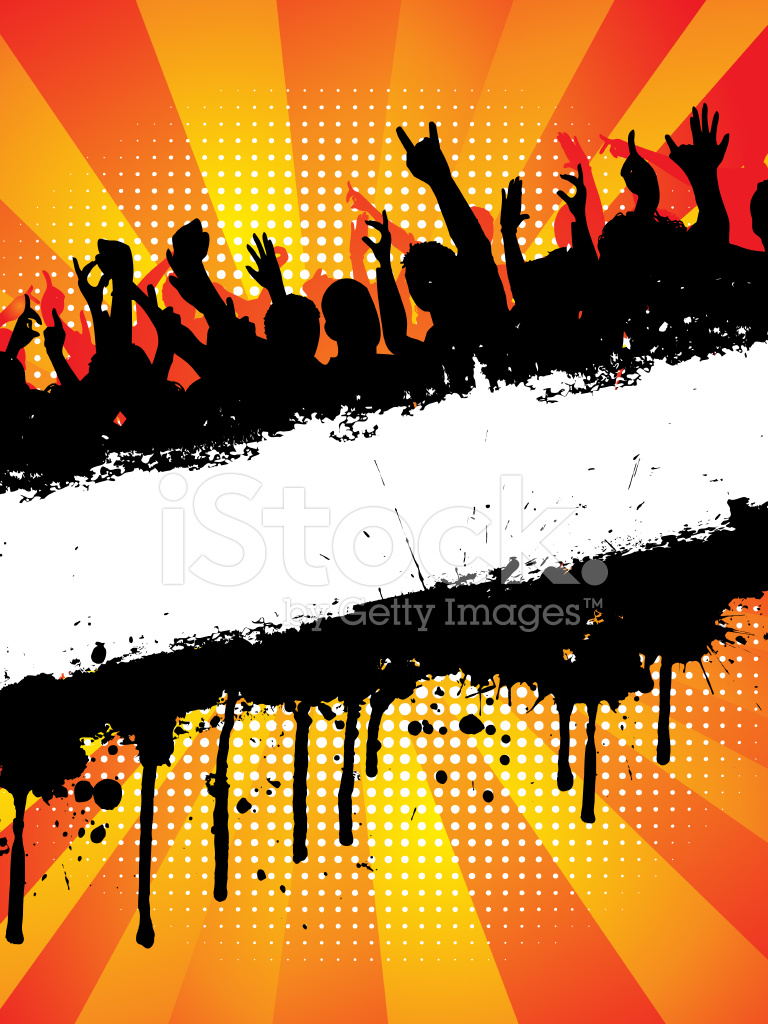 Grunge Crowd Stock Vector Freeimages Com