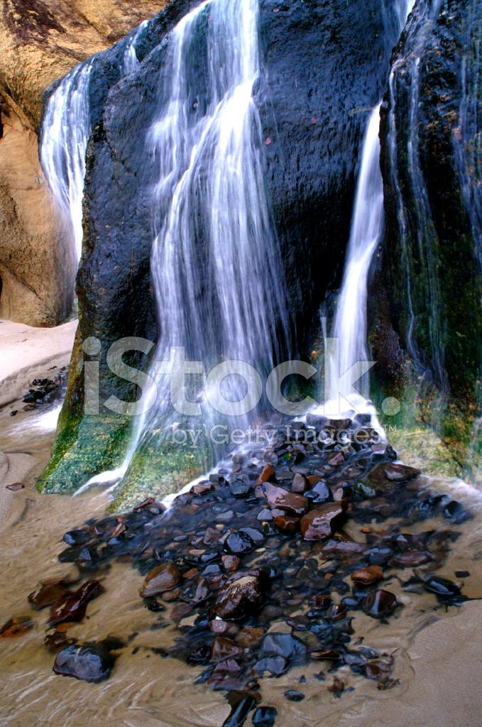 瀑布,佳能海滩,俄勒冈州州立公园的地质特征 L 照片素材 Freeimages Com