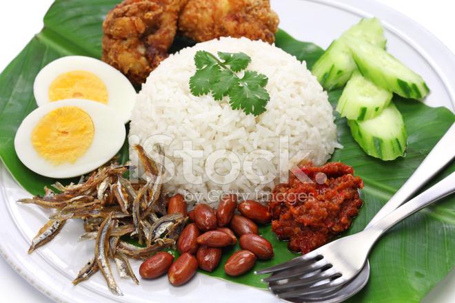 Nasi lemak riz au lait de coco la cuisine malaisienne for Authentic malaysian cuisine
