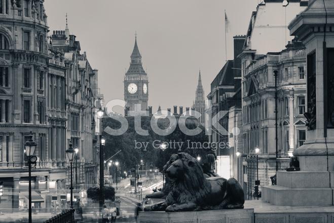 Street View Of Trafalgar Square Stock Photos Freeimages Com