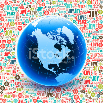 World map globe on holiday christmas background pattern stock vector premium stock photo of world map globe on holiday christmas background pattern gumiabroncs Image collections