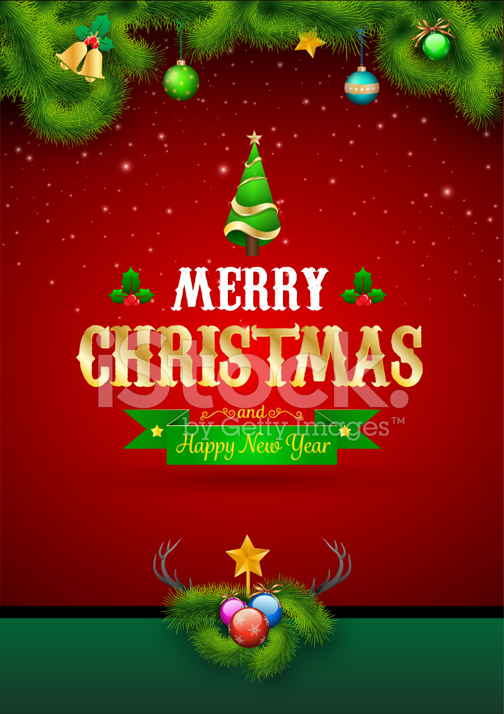 Merry Christmas and Happy New Year Stock Vector - FreeImages.com