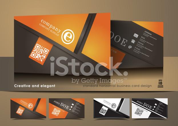 Kreative Und Elegante Visitenkarte Design Stock Vector