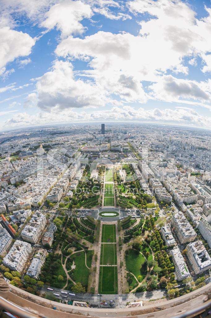 панорамное фото с эйфелевой башней