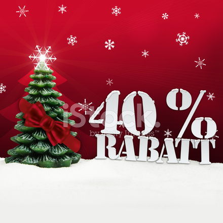 Christmas Tree 40 percent Rabatt Discount