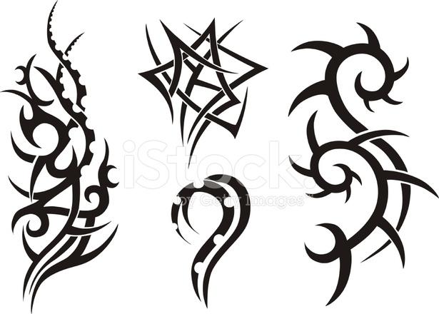 dise os de tatuajes tribales stock vector. Black Bedroom Furniture Sets. Home Design Ideas