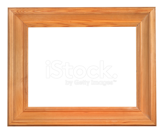 Simple Wide Wooden Frame With Cut Out Canvas Stock Photos ...