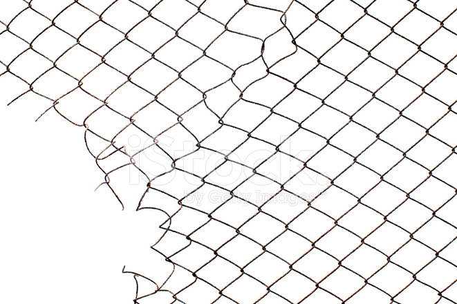 Corner Hole IN The Mesh Wire Fence Stock Photos - FreeImages.com