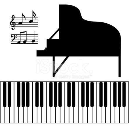 Isolated Piano Vector Stock