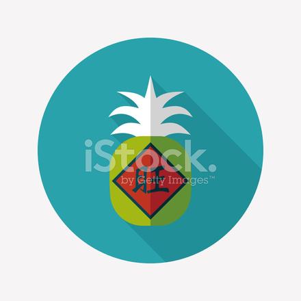 Chinese New Year Segen Ananas Flache Symbol, Eps10 Stock Vector ...