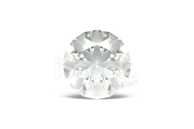 Diamante Brillante Sfondo Bianco Fotografie Stock Freeimagescom