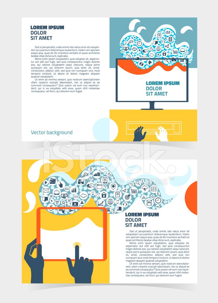 Flyer, Leaflet, Booklet Editable Design Template A5 stock photos ...