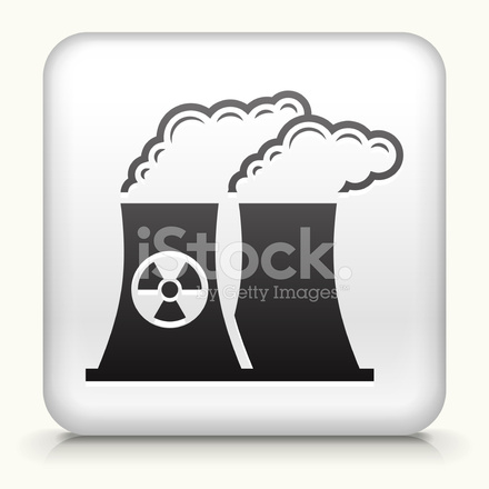 Square Button With Nuclear Plant Stock Vector Freeimages