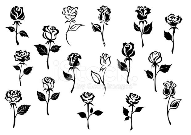 рисунки видео цветы черно белые