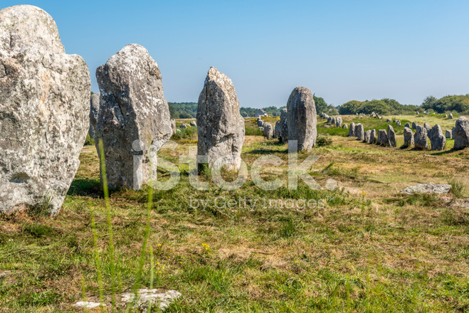 prehistoric megaliths in carnac stock photos. Black Bedroom Furniture Sets. Home Design Ideas