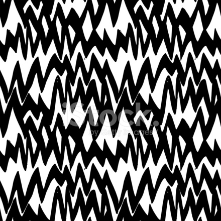 Striped Hand Drawn Pattern With Zigzag Lines Stock Vector