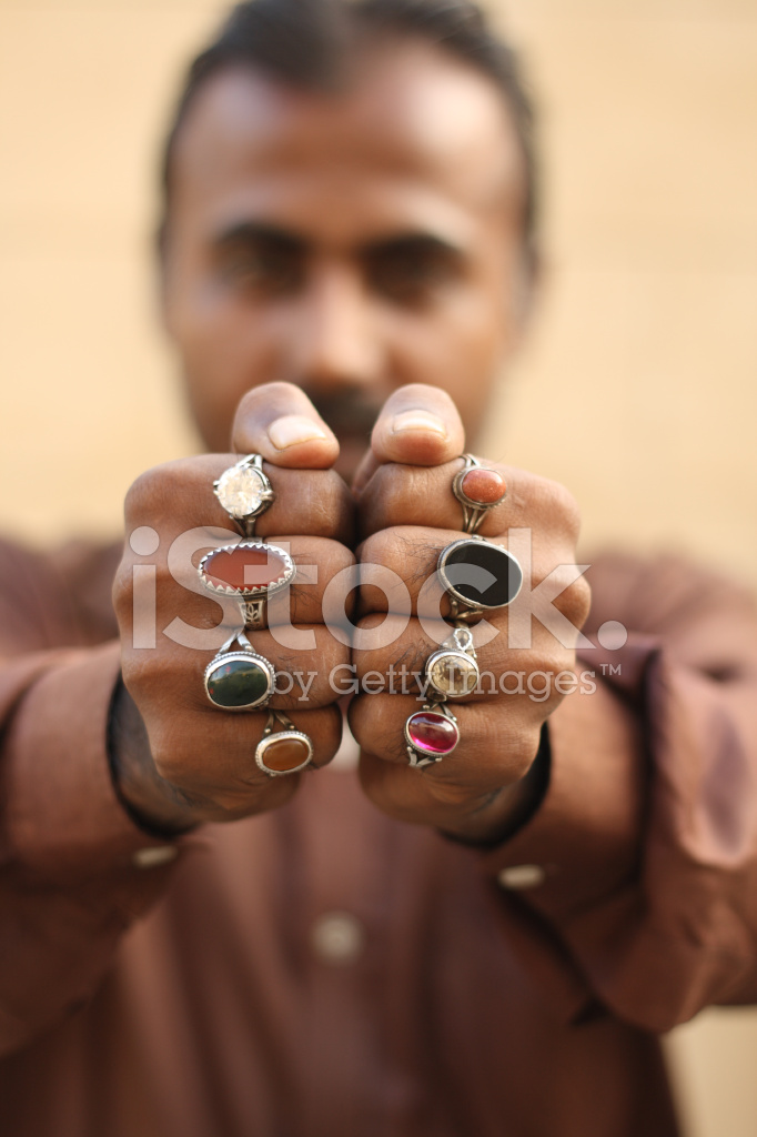Pakistani Man With Rings Stock Photos Freeimages Com