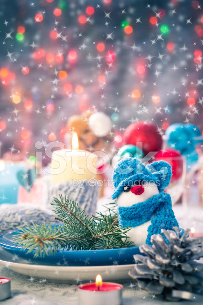 Christmas Xmas Eve Table Board Setting New Year Stock Photos ...
