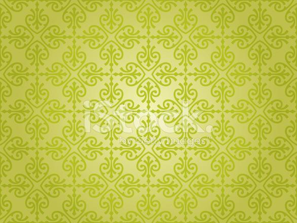 Conception D Un Papier Peint Vintage Vert Stock Vector Freeimages Com