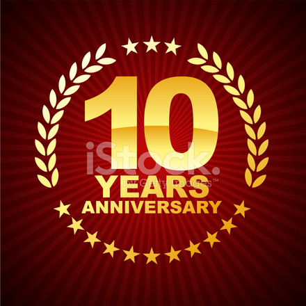 Ten Years Anniversary Emblem Stock Vector Freeimages