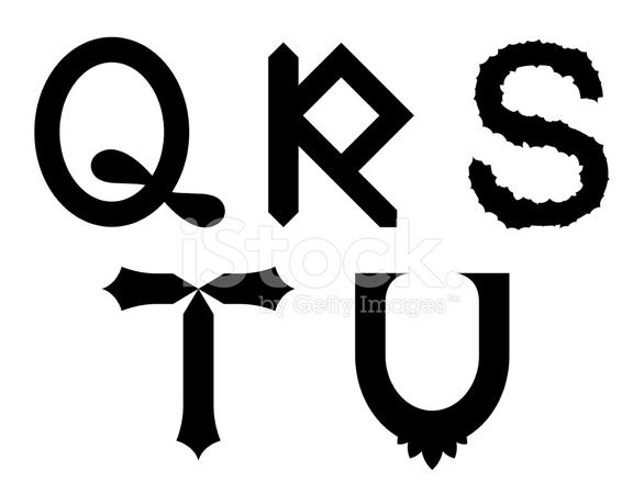 Qrstu Alphabet Letters IN Fun Modern Shapes stock photos ...