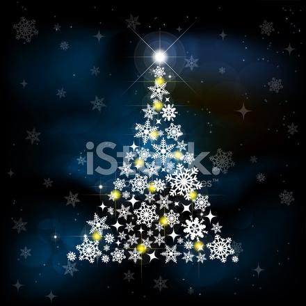 Yıldız Ile Kış Ve Yılbaşı Ağacı Arka Plan Stock Vector Freeimagescom
