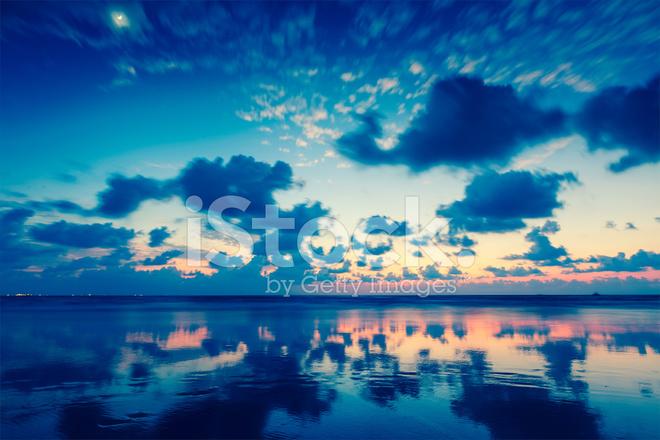 Sunset On Baga Goa Stock Photos Freeimages Com