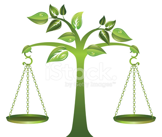 environmental green tree with balance scales hanging off Scales of Justice Logo Gavel Clip Art