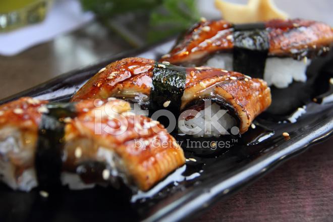 Set Unagi Sushi. Anguilla giapponese