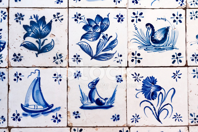 Antique Delft Tiles Stock Photos Freeimages Com